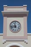 在塔的现代时钟 库存照片