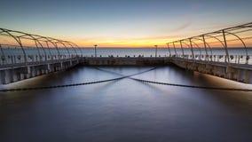 在塔霍河的码头 免版税图库摄影
