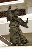 在塔Phra pathom chedi的石中国雕塑 免版税库存照片