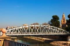 在塞古拉河的桥梁在穆尔西亚告诉了Nuevo普恩特 免版税库存照片