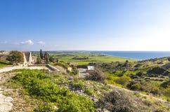 在塞浦路斯的地中海海岸 免版税库存图片