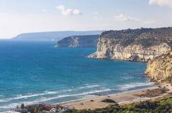 在塞浦路斯的地中海海岸 免版税库存照片