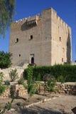 在塞浦路斯的海岛上的Kolossi城堡 库存图片
