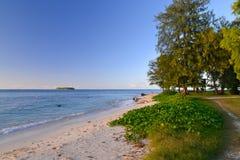 在塞班岛海岛上的美好的假日  塞班岛美丽的海岛  免版税图库摄影