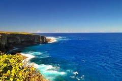 在塞班岛海岛上的美好的假日  塞班岛美丽的海岛  库存照片