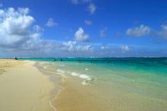 在塞班岛海岛上的美好的假日  塞班岛美丽的海岛  库存图片