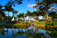 在塞班岛海岛上的美好的假日  库存照片