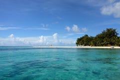 在塞班岛的海滩 免版税库存图片