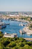 在塞瓦斯托波尔港。乌克兰,克里米亚 免版税库存图片