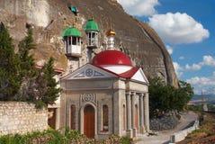 在塞瓦斯托波尔附近的洞修道院 图库摄影