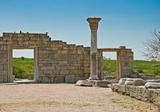 在塞瓦斯托波尔附近的Chersonesus在克里米亚 免版税库存照片