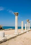 在塞瓦斯托波尔附近的Chersonesus在克里米亚 免版税库存图片