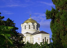 在塞瓦斯托波尔st taurica乌克兰vladimir附近的大教堂chersonesus克里米亚 库存图片