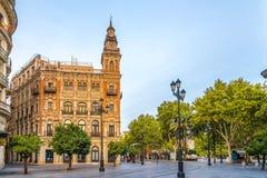 在塞维利亚街道在西班牙 免版税库存图片