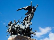在塞罗de la格洛里亚, Mendoza的纪念碑 库存图片