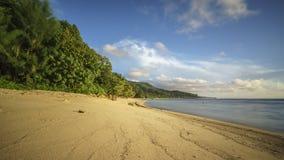 在塞舌尔群岛的偏僻的天堂海滩 免版税库存照片