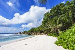 在塞舌尔群岛的天堂海滩, anse椰树, la digue 5 库存图片