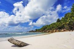 在塞舌尔群岛的天堂海滩, anse椰树, la digue 7 库存图片