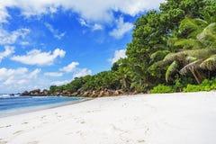 在塞舌尔群岛的天堂海滩, anse椰树, la digue 13 库存图片