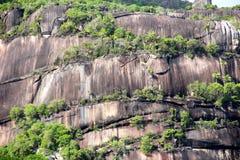 在塞舌尔群岛的山景 库存照片