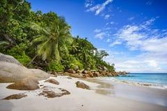 在塞舌尔群岛5的天堂海滩 免版税库存照片