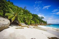 在塞舌尔群岛7的天堂海滩 免版税库存照片