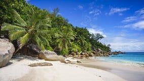 在塞舌尔群岛8的天堂海滩 图库摄影