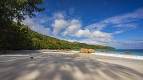 在塞舌尔群岛13的天堂海滩 图库摄影