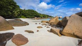 在塞舌尔群岛14的天堂海滩 库存照片