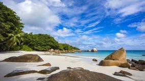 在塞舌尔群岛16的天堂海滩 免版税图库摄影