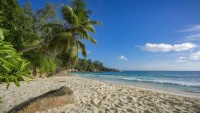 在塞舌尔群岛2的天堂海滩 库存照片