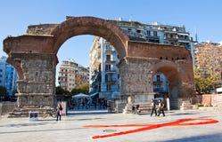在塞萨罗尼基,希腊街道上的世界艾滋病日  库存照片
