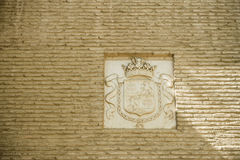 在塞维利亚,西班牙,欧洲设计在墙壁上的样式权威 库存照片