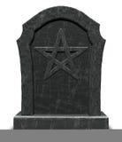 在墓碑的五芒星形 免版税库存照片