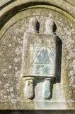 在墓碑的摩西五经纸卷 库存照片
