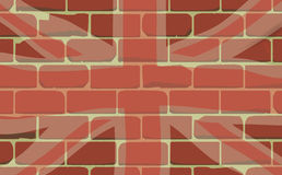 在墙壁上喷洒的英国国旗 免版税库存图片