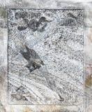 在墙壁上的一张图片从在一个垫座的盐在斯勒尼克-盐沼斯勒尼克Prahova雕刻了在盐矿-在Prahova镇  免版税库存图片