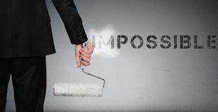 在墙壁上的不可能的词绘画 免版税图库摄影
