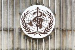 在墙壁上的世界卫生组织商标 库存照片
