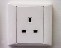 在墙壁上的交流电能插口 免版税库存图片
