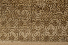 在墙壁上的伊斯兰装饰品 免版税库存照片
