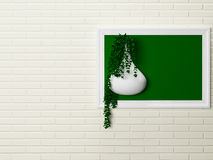 在墙壁上的创造性的装饰 免版税库存图片