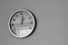 在墙壁上的办公室时钟 库存图片