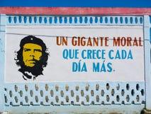 在墙壁上的古巴口号 库存照片