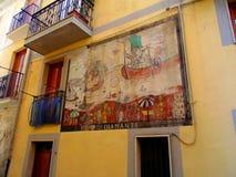 在墙壁上的壁画 免版税库存照片