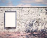 在墙壁上的大模型广告牌 3d 免版税库存照片