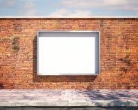 在墙壁上的大模型广告牌 3d 免版税库存图片