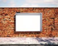 在墙壁上的大模型广告牌 3d 免版税图库摄影