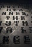 在墙壁上的字母表 免版税图库摄影