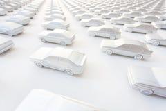 在墙壁上的小的汽车 免版税库存图片